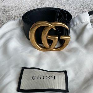 Gucci Wide GG Belt